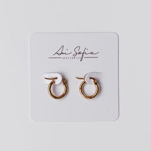 Tiny 10mm Skinny Hoop Earrings